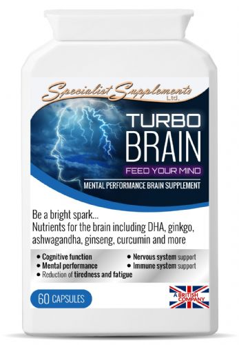 Turbo Brain Mental Performance Brain Supplement. Super Concentrated Formula.